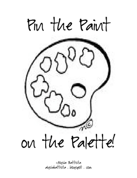 Paint Blob Cards and Pin the Paint on the Palette Game