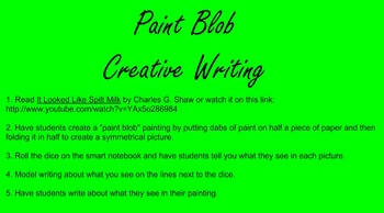 Paint Blob Creative Writing, It Looked Like Spilt Milk