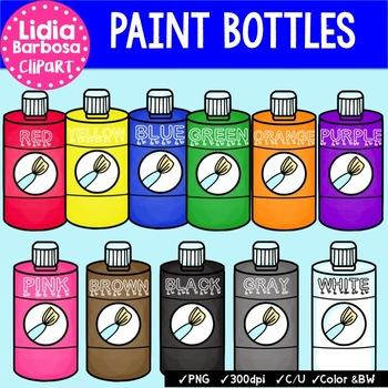 Paint Bottles { Clip Art for Teachers }