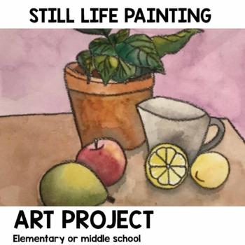 Paint Brush Art Project  for elementary or middle school art class