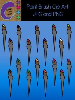 Paint Brush Clip Art Color Images Designs