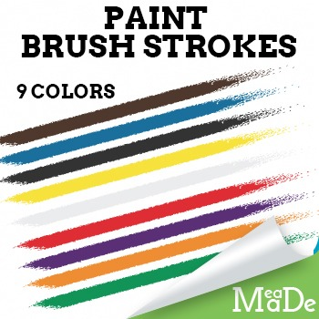 Paint Brush Clipart Pack