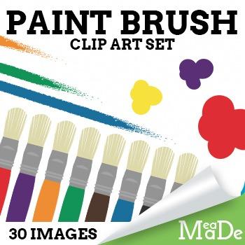 Paint Brush Clipart Pack