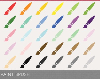 Paint Brush Digital Clipart, Paint Brush Graphics, Paint Brush PNG