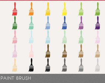 Paint Brush Digital Clipart, Paint Brush Graphics, Paint Brush PNG
