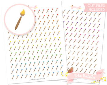 Paint Brush Printable Planner Stickers