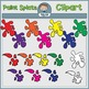 Paint Brushes and Splats Clipart