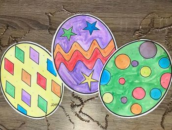 Paint-By-Number Easter Eggs