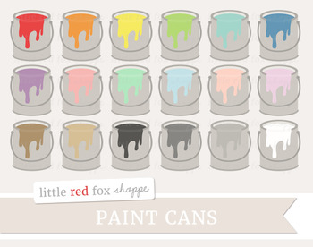 Paint Can Clipart; Painting, Home Improvement