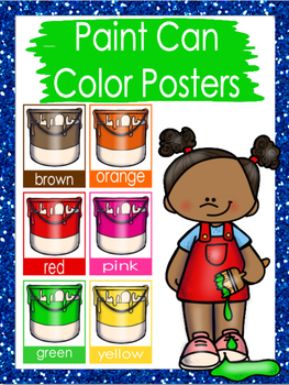 Paint Can Color Posters