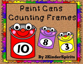 Paint Cans Counting Mats