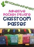 Paint Chip Adhesive Pocket Square Classroom Passes