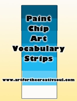 Paint Chip Art Vocabulary Strips