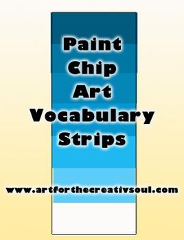 Paint Chip Art Vocabulary Strips