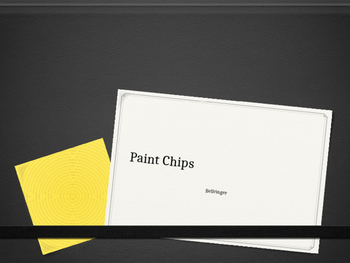 Paint Chip Bellringer for Vocabulary