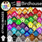 Birdhouse Clip Art ● Paint Chip Birdhouses ● Clip Art