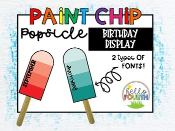 Paint Chip Popsicle Birthday Display