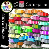 Caterpillar Clip Art ● Paint Chip Caterpillars ● Clip Art