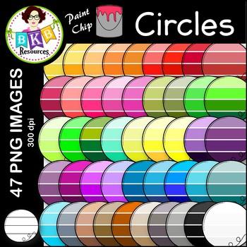 Circle Clip Art ● Paint Chip Circles ● Clip Art ● FREEBIE