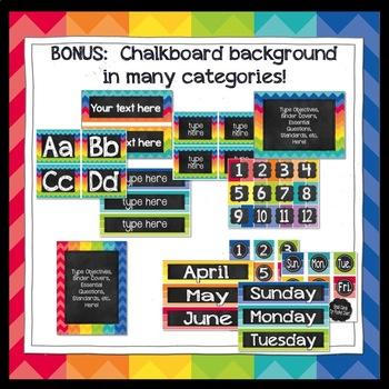 Paint Chip Classroom Decor Bundle