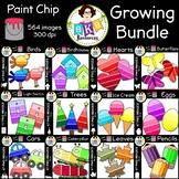 Paint Chip Clip Art ● Huge Clip Art Set ● Growing Bundle