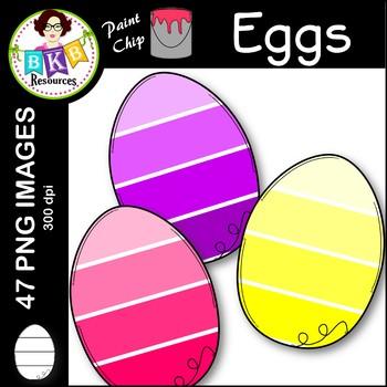 Egg Clip Art ● Paint Chip Eggs ● Clip Art