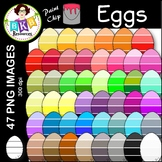 Egg Clip Art ● Paint Chip Eggs ● Clip Art