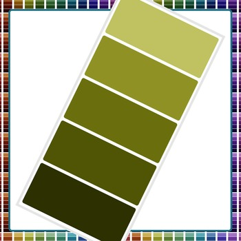 Paint Chip - Five Dark Color Clip Art Set for Commercial Use