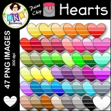 Heart Clip Art ● Paint Chip Hearts ● Clip Art