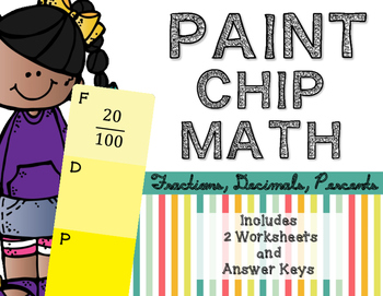 Paint Chip Math: Converting Fractions, Decimals, and Percents
