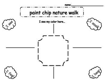 Paint Chip Nature Walk