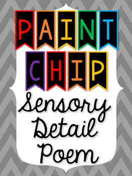 Paint Chip Sensory Detail Poem - FREEBIE