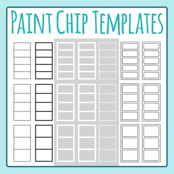 Paint Chip Templates Clip Art for Commercial Use