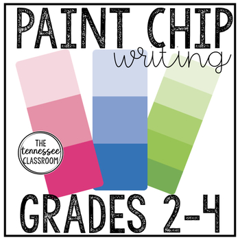 Spring Writing Center: Paint Chip Writing
