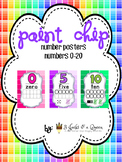 Paint Chip number posters