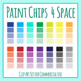 Paint Chips - 4 Color Space / Template Clip Art Set for Commercial Use