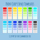 Paint Chips - 5 Color Space / Template Clip Art Set for Commercial Use