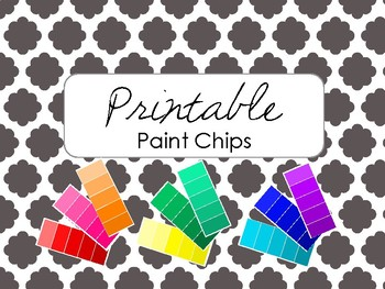 Paint Chips Color Gradients - Printable