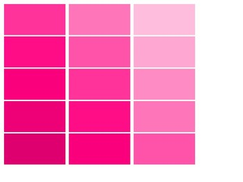 graphic about Printable Paint named Paint Chips Shade Gradients - Printable