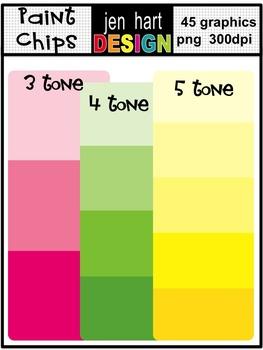 Paint Chips Clip Art Set Freebie