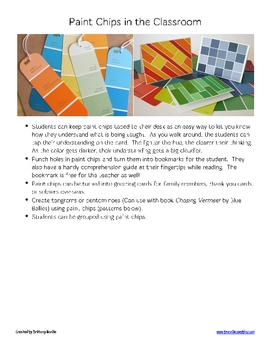 Paint Chips in the Classroom
