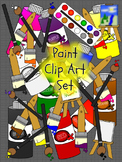 Paint Clip Art - Paint Brushes-Paint Bottles-Easels