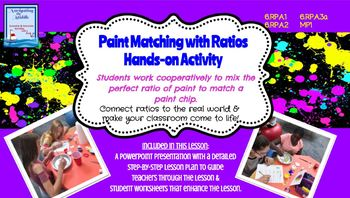 Paint Matching with Ratios