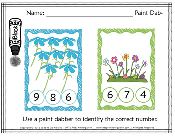 Paint Dabber Early Math