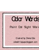 Paint Dot Color Words - Kindergarten