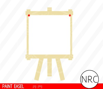 Paint Easel Clip Art - Commercial Use Clipart