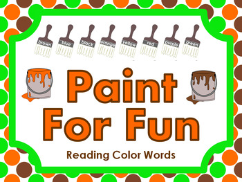 Paint For Fun • Reading Color Words • File Folder Game