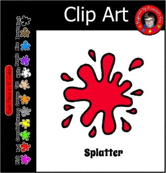 Paint ~ Ink Splatter in 12 Colors ~ Clip Art Commercially