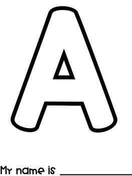 Paint-It: Names (Initial Letter Art Activity)