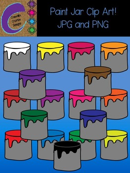 Paint Jars  Clip Art Color Images Designs